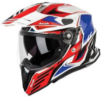 KASK AIROH COMMANDER CARBON RED GLOSS ROZ. L