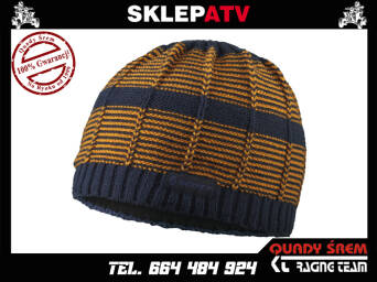 CZAPKA SCOTT BEANIE MTN 20 black iris/tang.orange