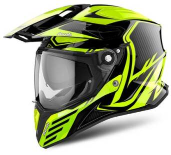 KASK AIROH COMMANDER CARBON YELLOW GLOSS L